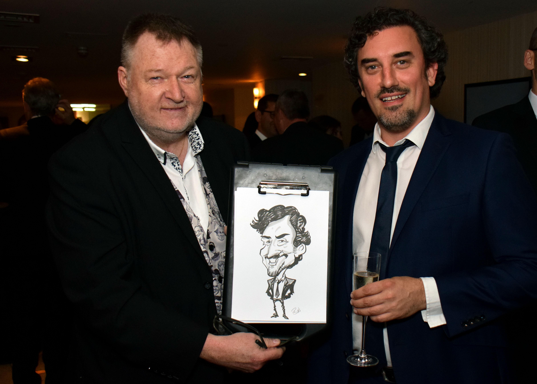 2017 Cyber Security Awards Caricaturist